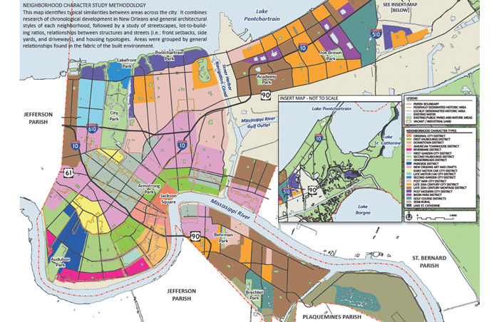 Zoning Map New Orleans The (new) New Orleans Comprehensive Zoning Ordinance needs to